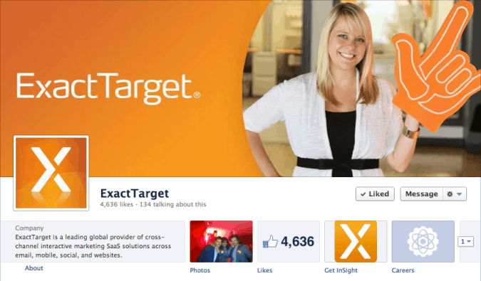 exact target facebook cover photo