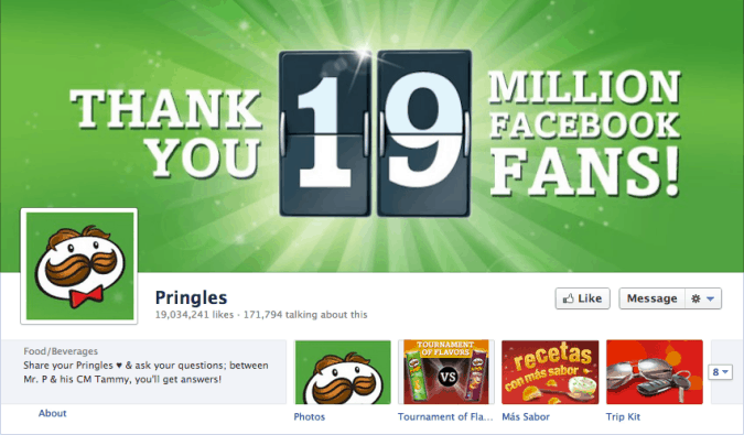 pringles ver2 675x395 23 Cool Examples of Facebook Page Cover Photos