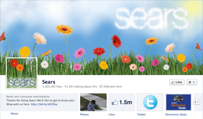 sears facebook cover photo 675x395 23 Cool Examples of Facebook Page Cover Photos