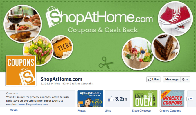 shopathome facebook cover photo 675x395 23 Cool Examples of Facebook Page Cover Photos