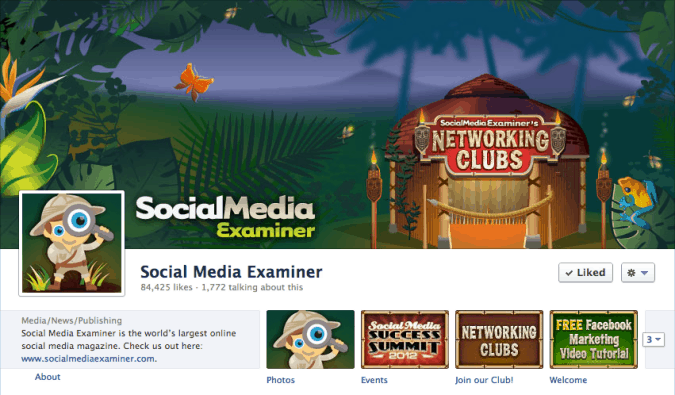 social media examiner facebook cover photo 675x395 23 Cool Examples of Facebook Page Cover Photos