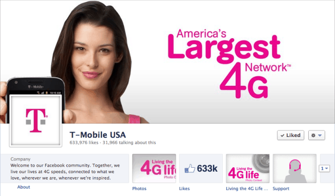 t-mobile facebook cover photo