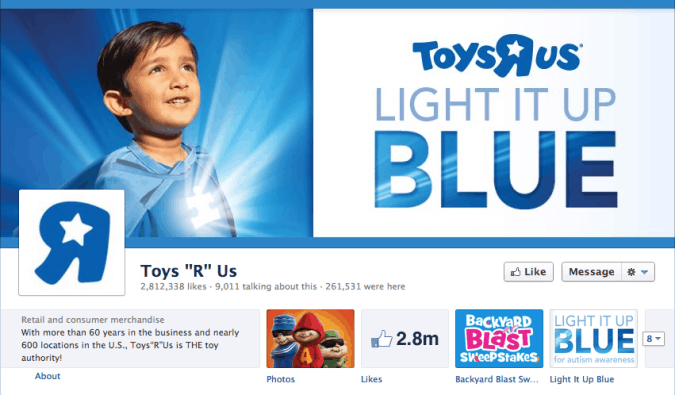 toys r us facebook cover photo 675x395 23 Cool Examples of Facebook Page Cover Photos