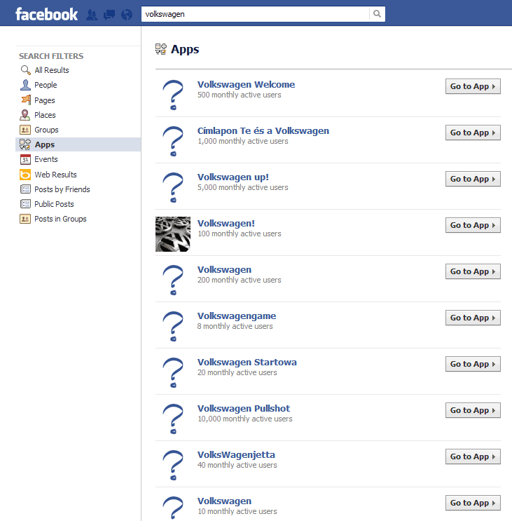 facebook search vw Facebook Search, a Goldmine?