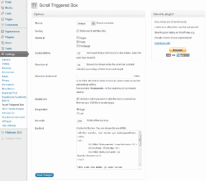 scroll triggered box wordpress plugin settings 300x263 Dreamgrow Scroll Triggered Box WordPress plugin