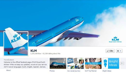 KLM 520x306 16 Great Airline Facebook Page Examples