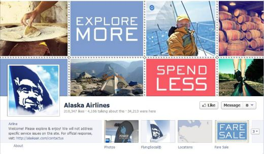 alaska 520x304 16 Great Airline Facebook Page Examples