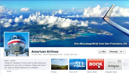 american airlines1 520x305 16 Great Airline Facebook Page Examples