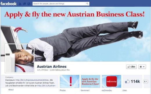 austria 520x326 16 Great Airline Facebook Page Examples