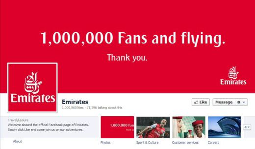 emirates 520x305 16 Great Airline Facebook Page Examples