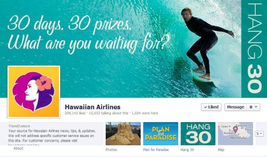 hawaii 520x306 16 Great Airline Facebook Page Examples