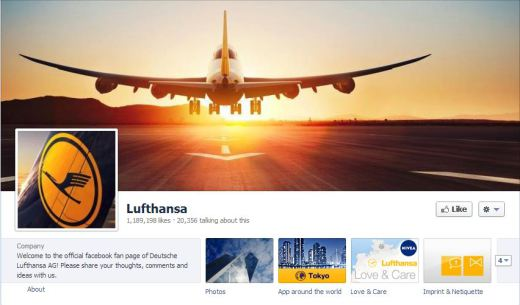 lufthansa 520x305 16 Great Airline Facebook Page Examples