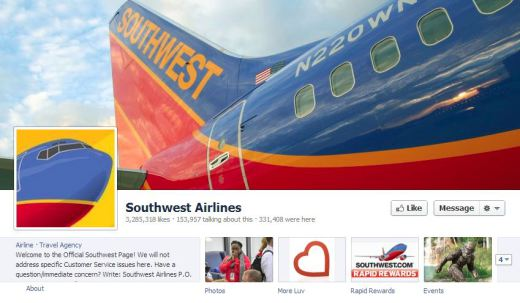 southwest1 520x303 16 Great Airline Facebook Page Examples