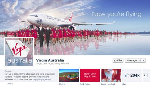 virgin australia 520x305 16 Great Airline Facebook Page Examples
