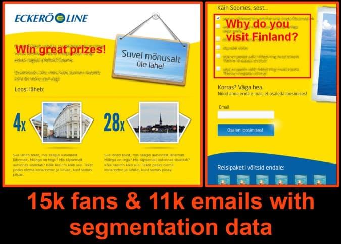 ask for segmentation data