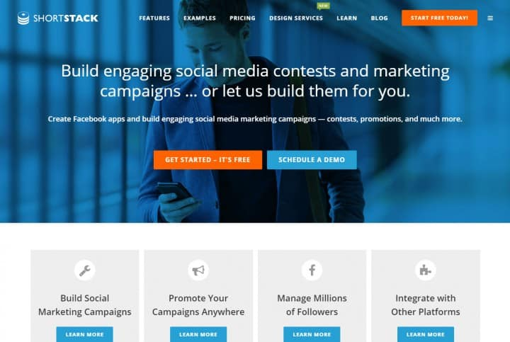 shortstack facebook tools pages contests
