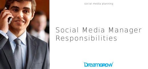 social media manager responsibilities