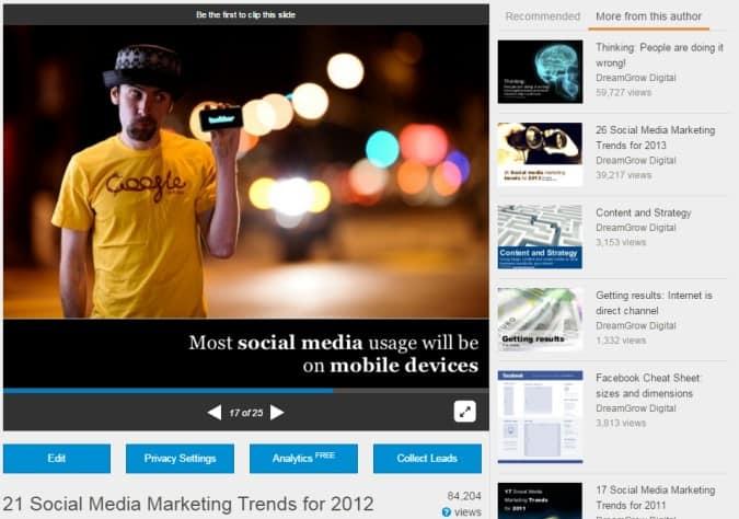 content marketing slide distribution