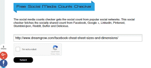 Social Media Monitoring Tools shared counter