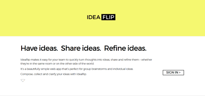ideaflip content writing tools