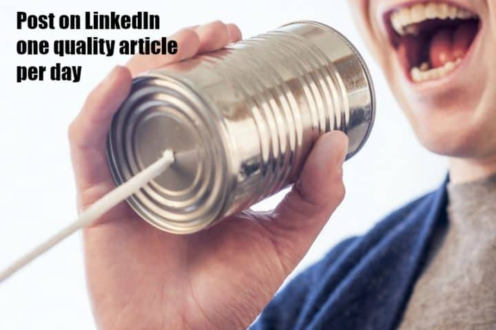 LinkedIn post frequency
