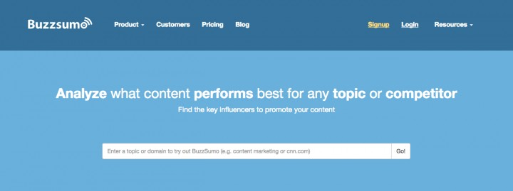 BuzzSumo growth hacking tools