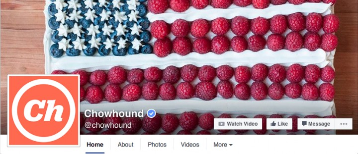 chow facebook landing page