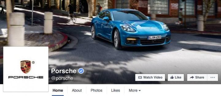 porsche-facebook-page