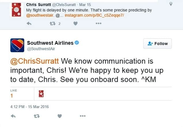 southwest airlines social media growth tactics