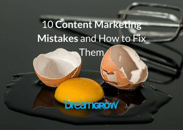 top content marketing mistakes