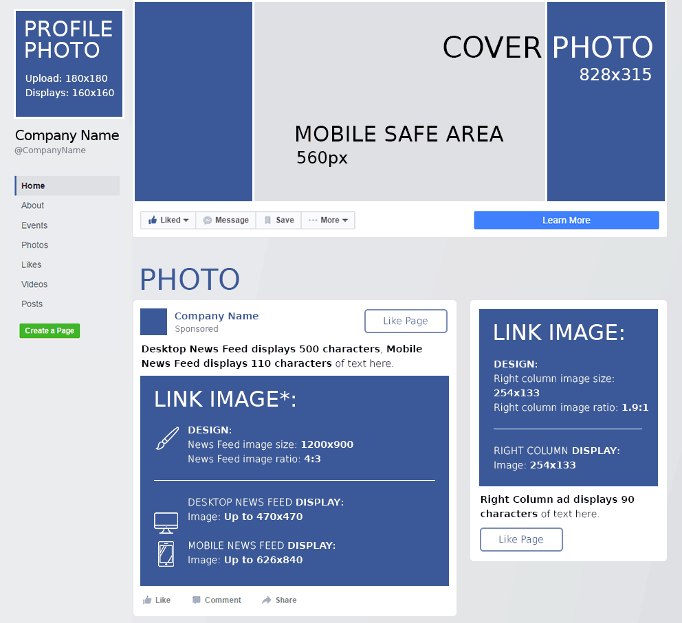 Facebook Cheat Sheet: All Sizes, Dimensions, and Templates [2019