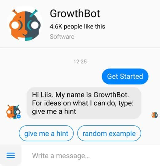 growthbot messenger bot