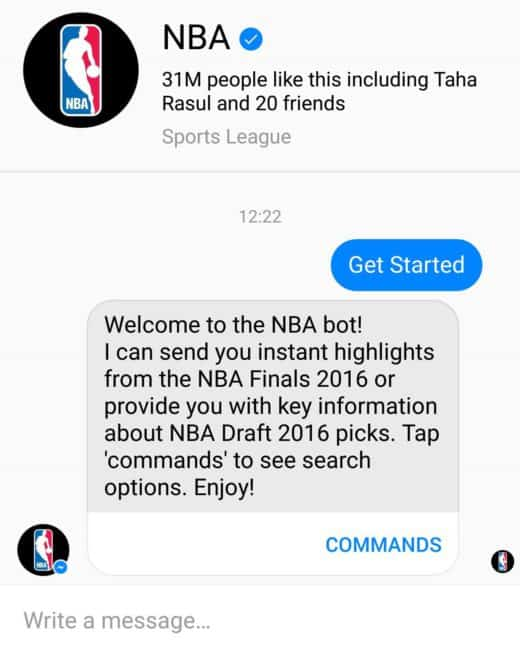 nba messenger bot