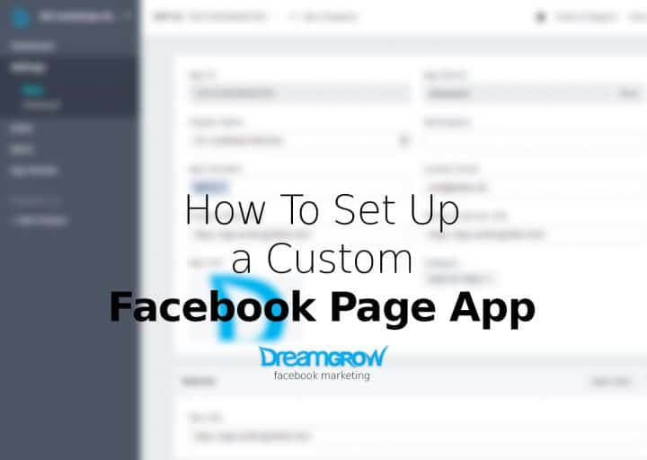 how to set up a custom facebook landing page app