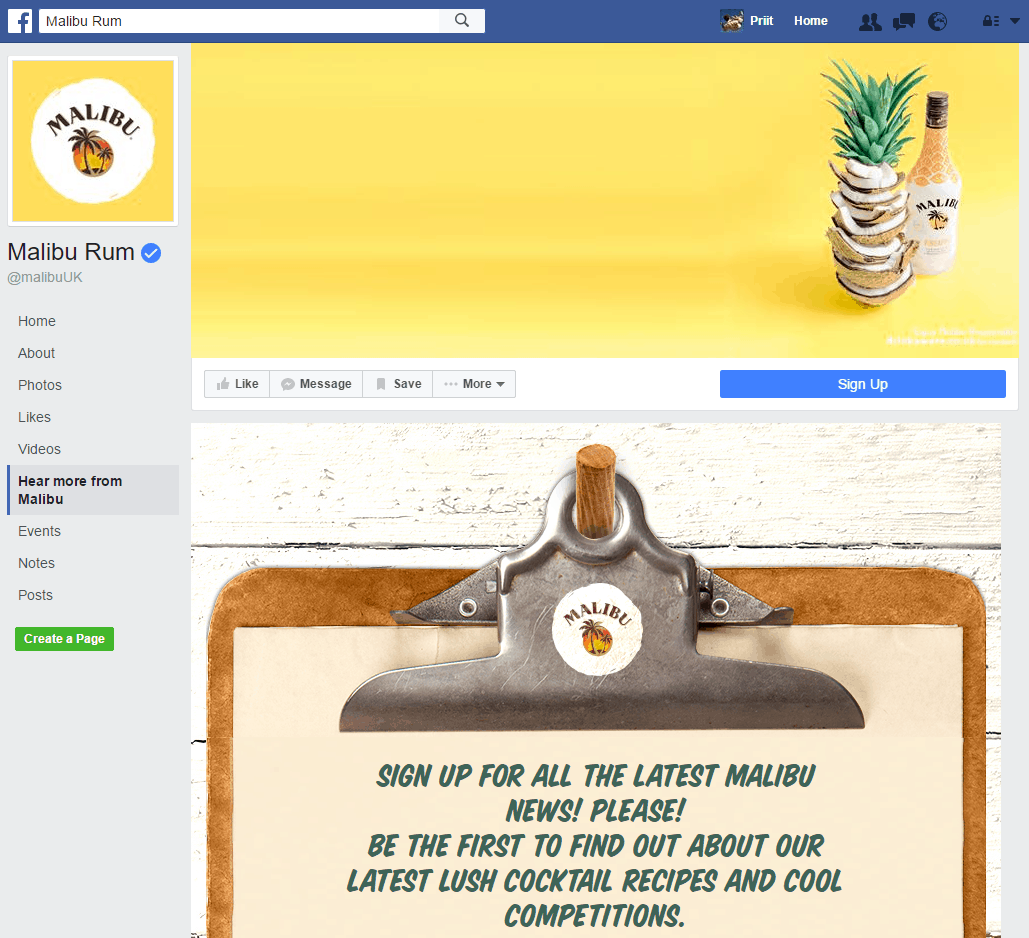 26 Great Facebook Landing Page Examples @DreamGrow 2018