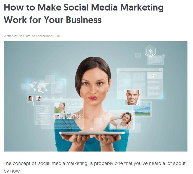 neil patel how to make social media work