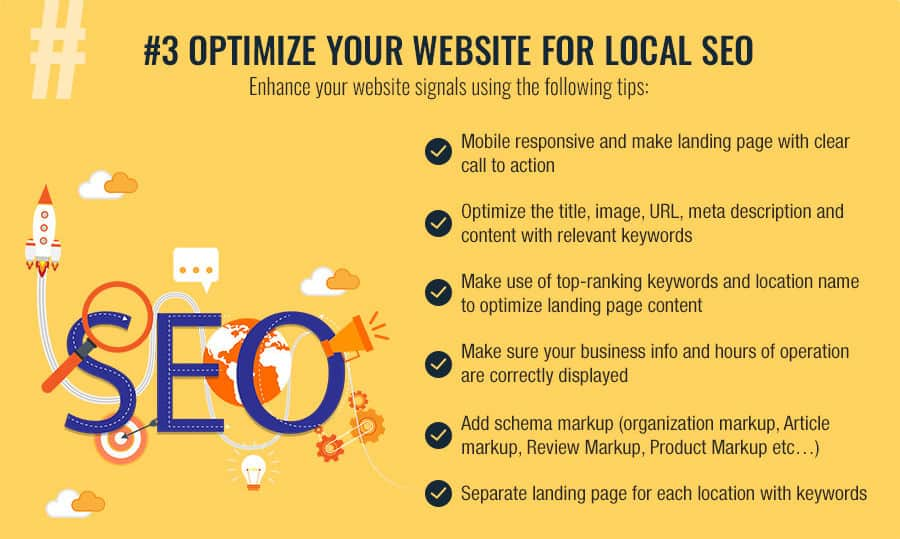 on page local seo factors