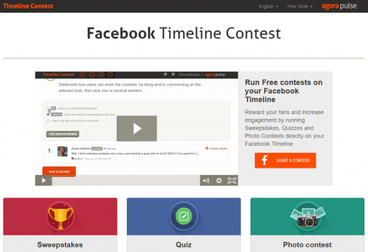 facebook tools timeline contests