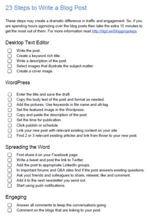 23 Steps to Write a Blog Post