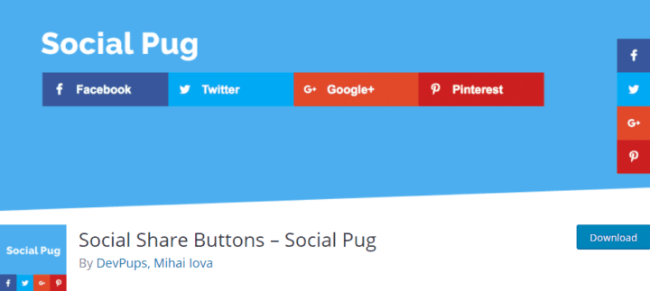 social share buttons social pug