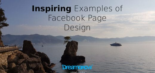 Facebook page design examples