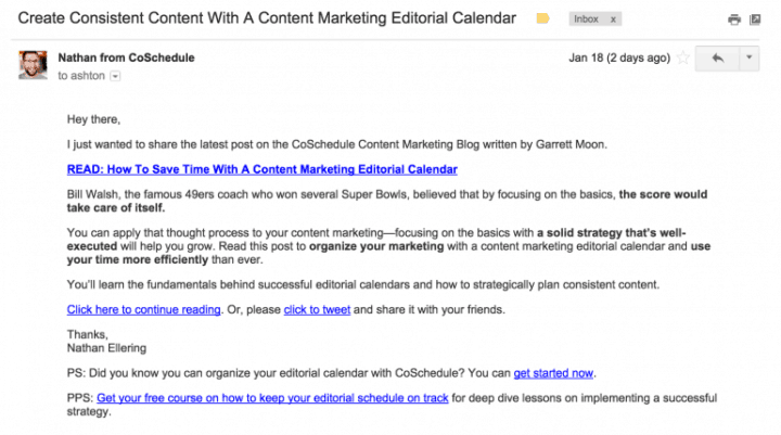 content promotion plain text emails