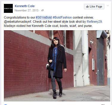 30yrsbold facebook campaign