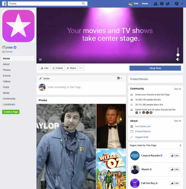 facebook page cover image itunes