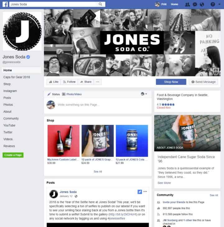 facebook page cover image jones