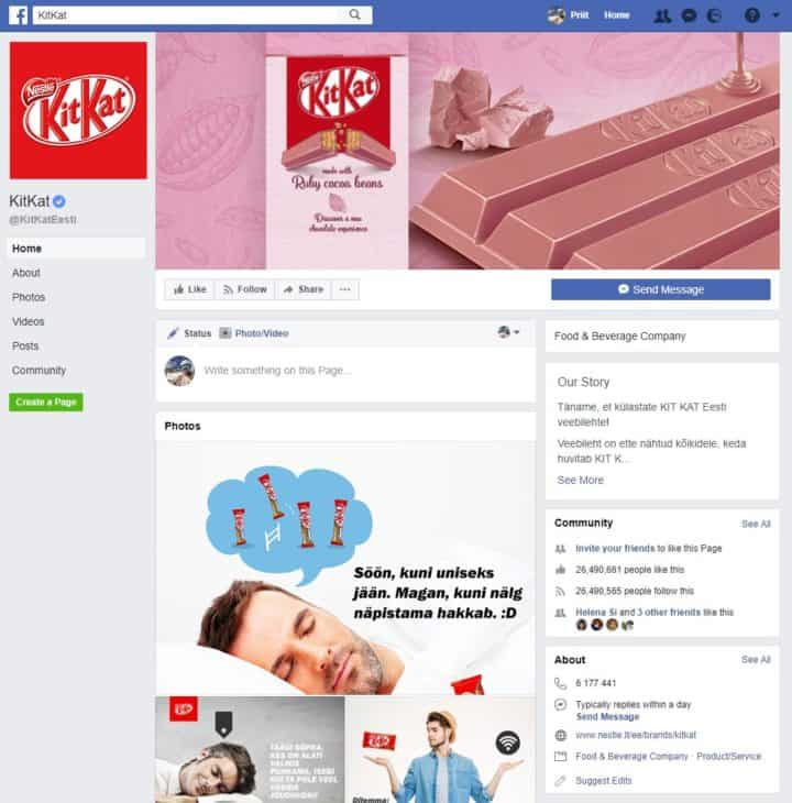 facebook page cover image kitkat