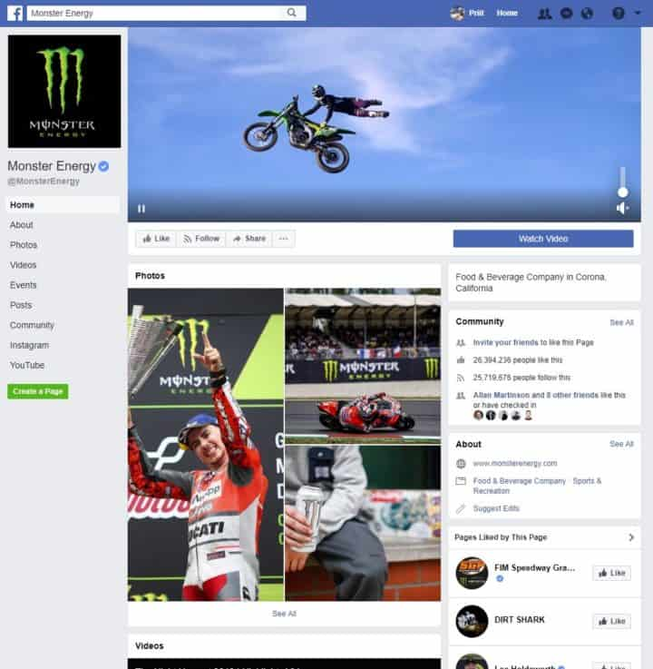 facebook page cover image monster