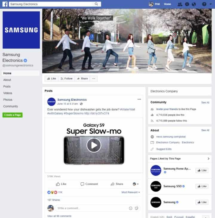 facebook page cover image samsung