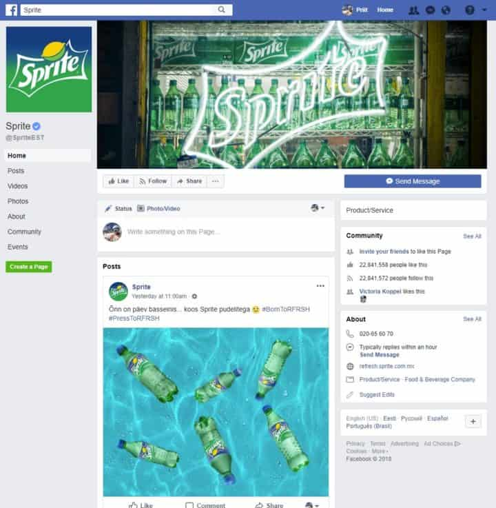 facebook page cover image sprite