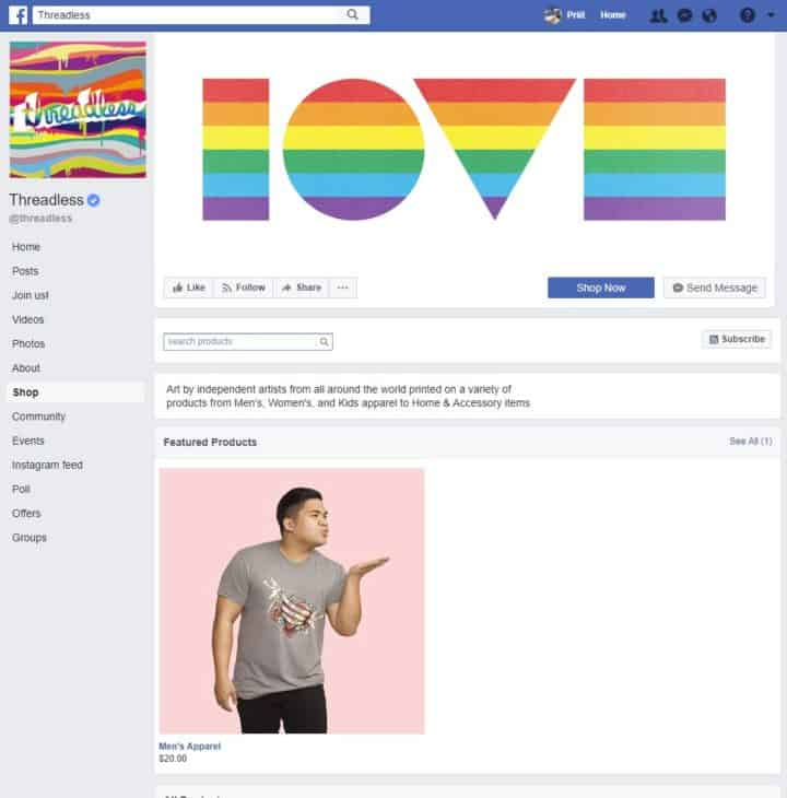 facebook page cover image threadless